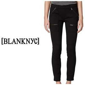 BLANK NYC Zipper Skinny Black Moto Pants